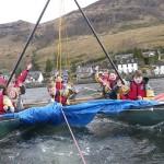 Rafted Sail Canoe